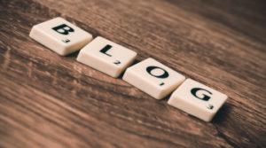 Blog Scrabble letters